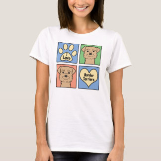I Love Border Terriers T-Shirt