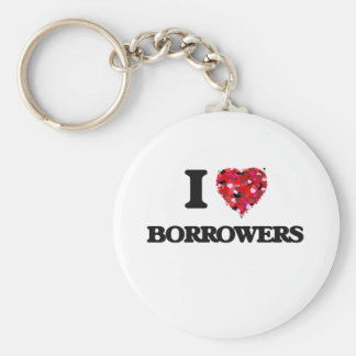 I Love Borrowers Basic Round Button Key Ring