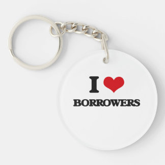 I Love Borrowers Acrylic Keychain