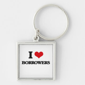 I Love Borrowers Keychains