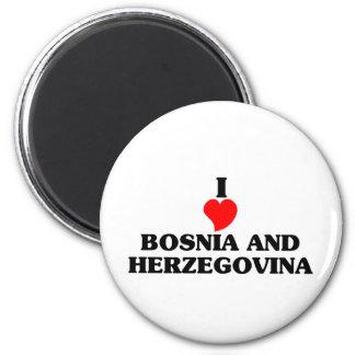 I Love Bosnia and Herzegovina 6 Cm Round Magnet