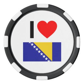 i love bosnia and herzegovina poker chips