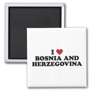 I Love Bosnia and Herzegovina Square Magnet