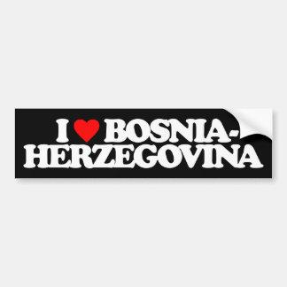 I LOVE BOSNIA-HERZEGOVINA CAR BUMPER STICKER