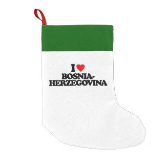 I LOVE BOSNIA-HERZEGOVINA SMALL CHRISTMAS STOCKING