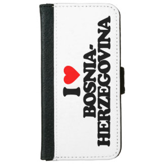 I LOVE BOSNIA-HERZEGOVINA iPhone 6 WALLET CASE