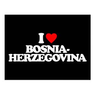 I LOVE BOSNIA-HERZEGOVINA POSTCARD