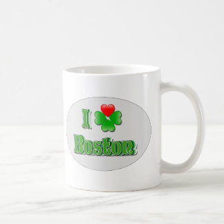 i Love Boston - Clover Basic White Mug