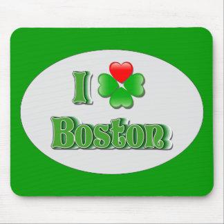 i Love Boston - Clover Mouse Mat
