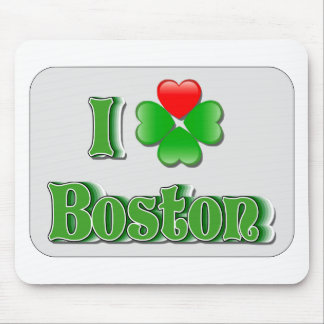 I Love Boston - Clover Mouse Pad