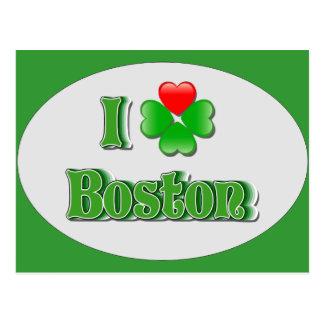 i Love Boston - Clover Postcard
