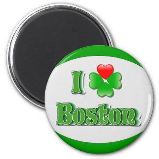 i Love Boston - Clover Refrigerator Magnets