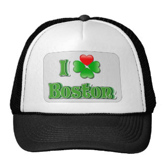 I Love Boston - Clover Trucker Hats