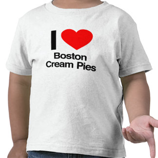 i love boston cream pies t-shirts