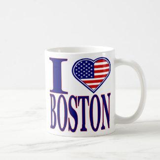 I Love Boston Forth Of July Edition Mug