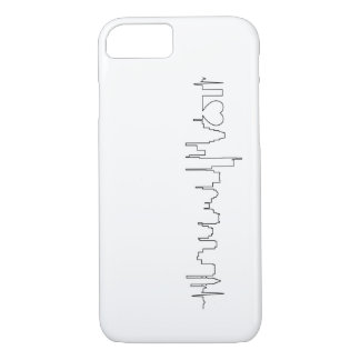 I love Boston in an extraordinary ecg style iPhone 7 Case