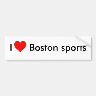 I love Boston sports Bumper Sticker