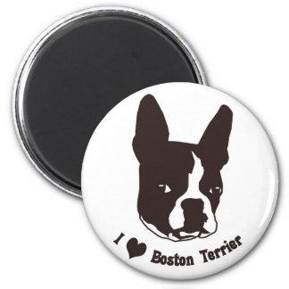 I love Boston Terrier 6 Cm Round Magnet