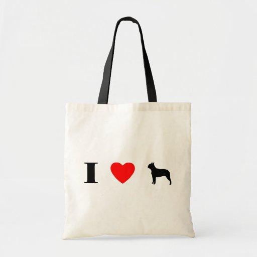 I Love Boston Terriers Bag