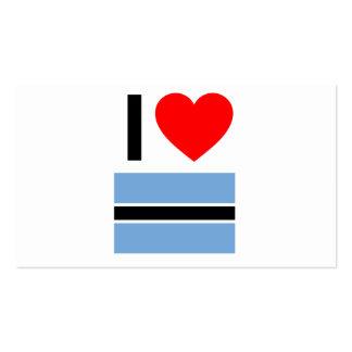 i love botswana pack of standard business cards