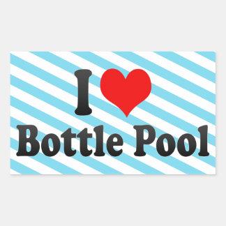 I love Bottle Pool Rectangular Sticker