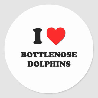 I Love Bottlenose Dolphins Stickers