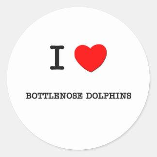 I Love BOTTLENOSE DOLPHINS Round Sticker