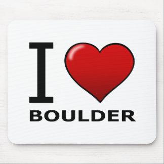 I LOVE BOULDER CO - COLORADO MOUSE PAD
