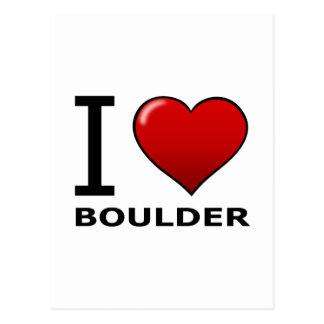 I LOVE BOULDER,CO - COLORADO POSTCARD