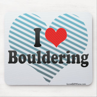 I Love Bouldering Mouse Pad