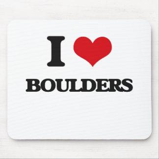I Love Boulders Mousepads