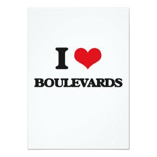 I Love Boulevards 13 Cm X 18 Cm Invitation Card