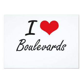 I Love Boulevards Artistic Design 13 Cm X 18 Cm Invitation Card
