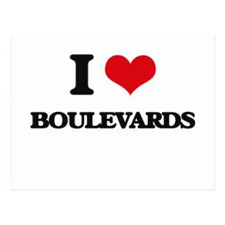 I Love Boulevards Post Card