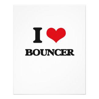 I Love Bouncer 11.5 Cm X 14 Cm Flyer