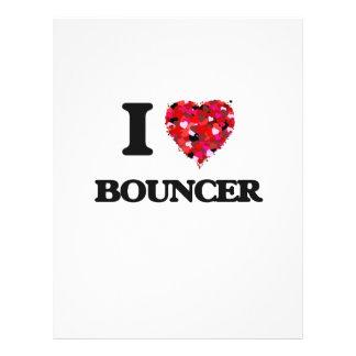 I Love Bouncer 21.5 Cm X 28 Cm Flyer