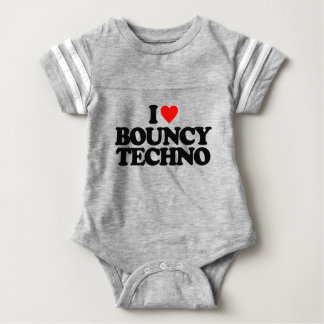 I LOVE BOUNCY TECHNO BABY BODYSUIT