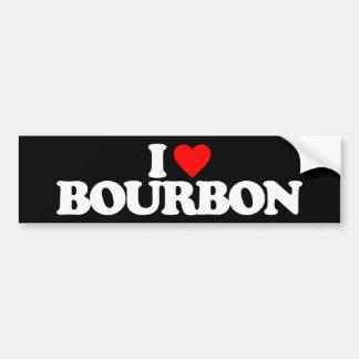 I LOVE BOURBON BUMPER STICKER