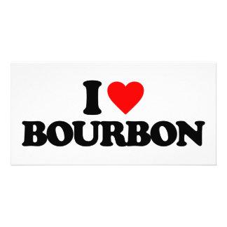 I LOVE BOURBON PHOTO CARD TEMPLATE