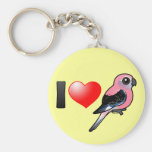 I Love Bourkies Basic Round Button Key Ring