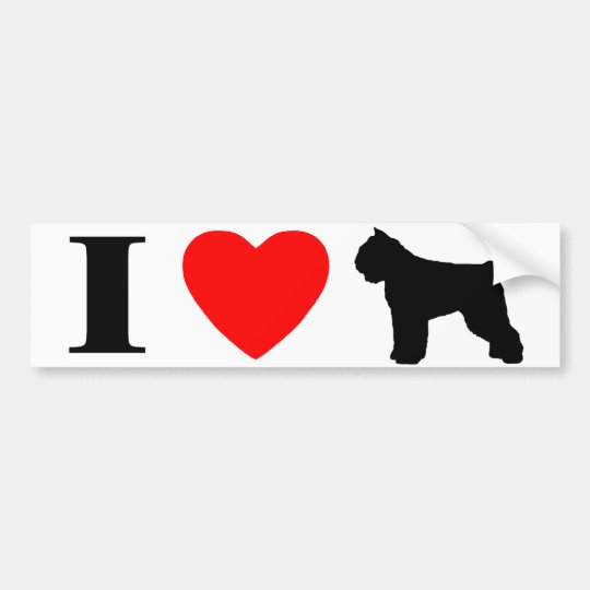 I Love Bouviers des Flandres Bumper Sticker