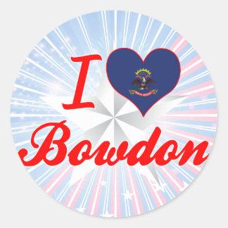 I Love Bowdon, North Dakota Round Sticker