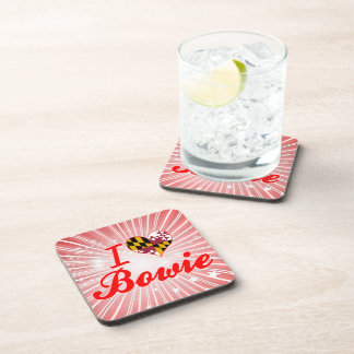 I Love Bowie Maryland Drink Coasters