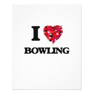 I Love Bowling 11.5 Cm X 14 Cm Flyer