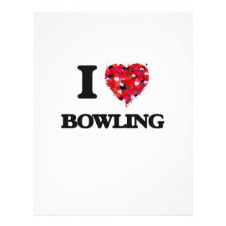 I Love Bowling 21.5 Cm X 28 Cm Flyer
