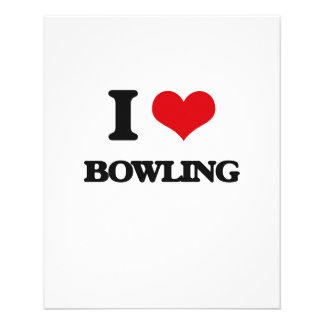 I Love Bowling Flyer
