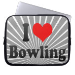 I love Bowling Laptop Computer Sleeves