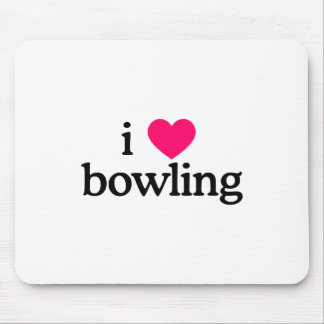I Love Bowling Mouse Pad
