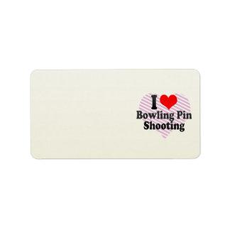 I love Bowling Pin Shooting Address Label