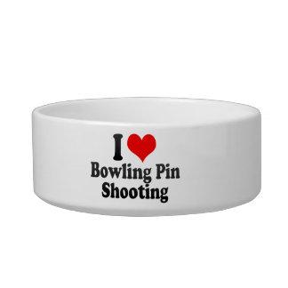 I love Bowling Pin Shooting Pet Water Bowls